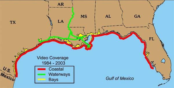 Aerial Video - Us intracoastal waterway map